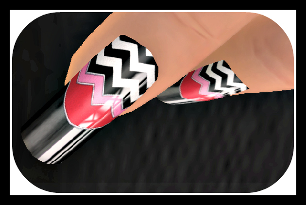 Zoz chevron Black Tip Nail Polish_cropped